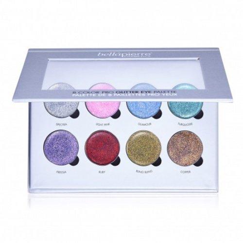 8 Color Pro Glitter Palette van BellaPierre