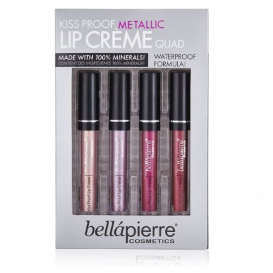 Kiss Proof Metallic Lip Crème Quad Kit van BellaPierre