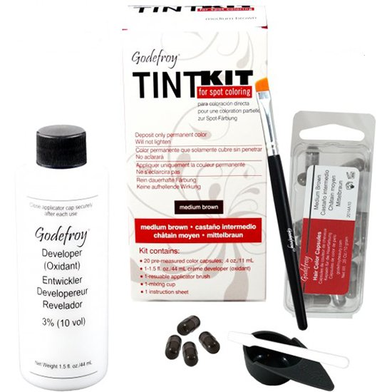 Tint kit medium brown van Godefroy